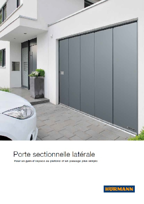 Portes sectionnelles lat rales - Portes de garage sectionnelles motorisees ...